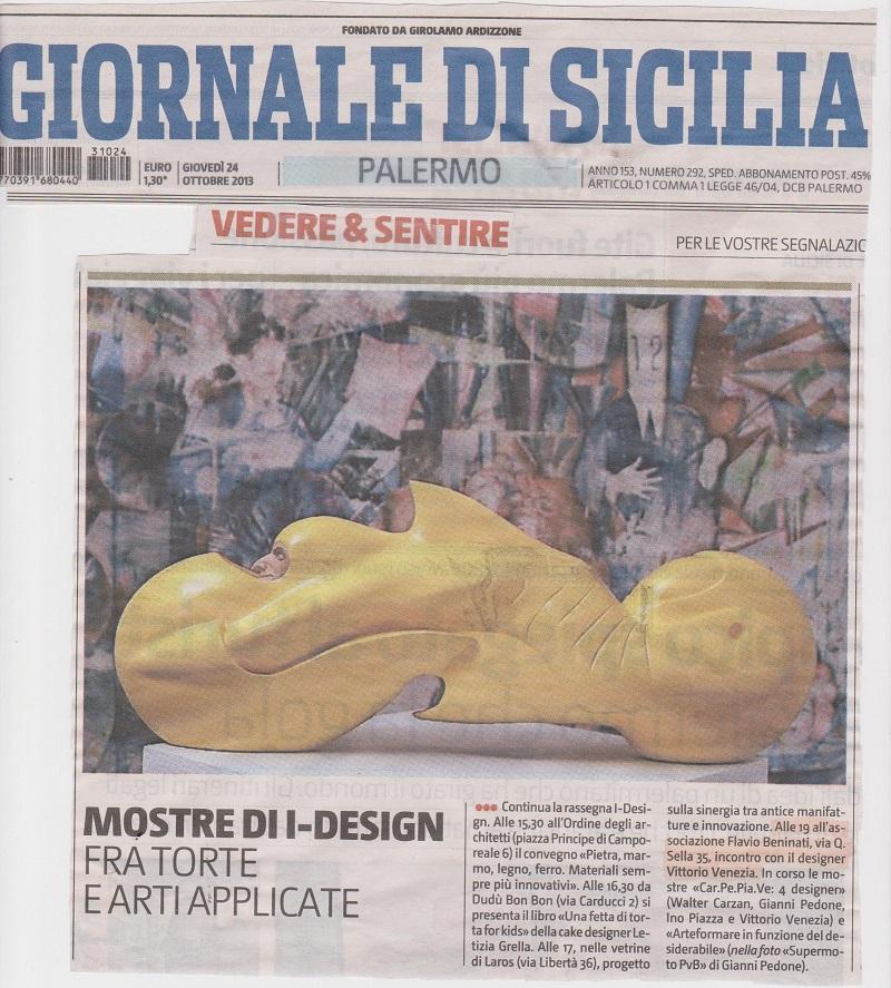 Giornale di Sicilia -Incontro Vittorio Venezia - 24 ottobre 2013 001