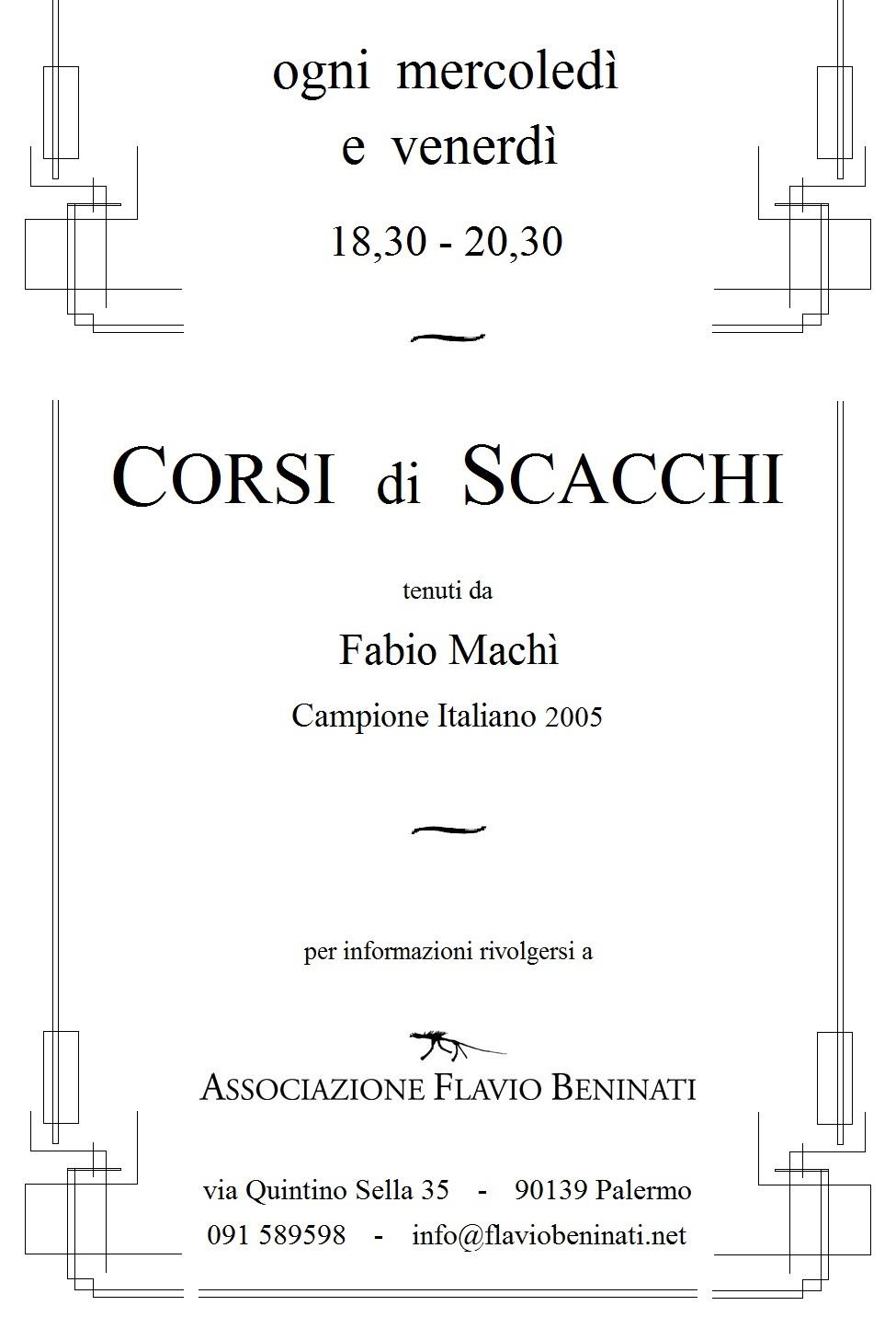Corso di Scacchi - LOCANDINA 5