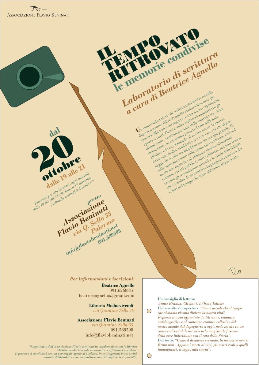 Locandina laboratorio scrittura Beatrice Agnello 2